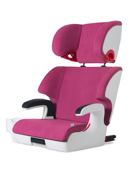 clek oobr high back booster seat snowberry