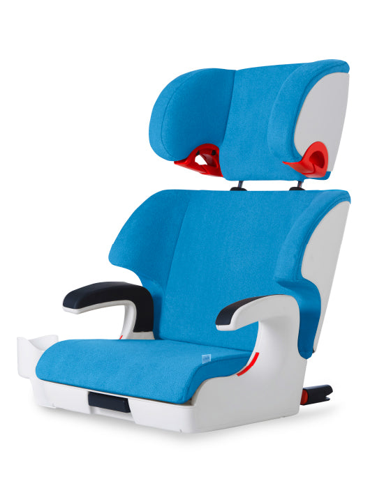 clek oobr high back booster seat ten year blue
