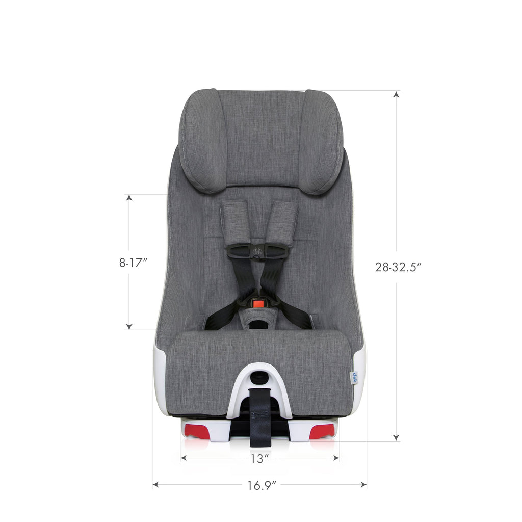 clek foonf convertible car seat front dimensions