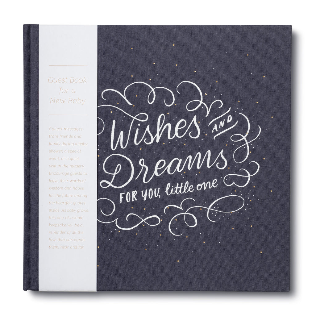 wishes and dreams for you little one baby guestbook cover