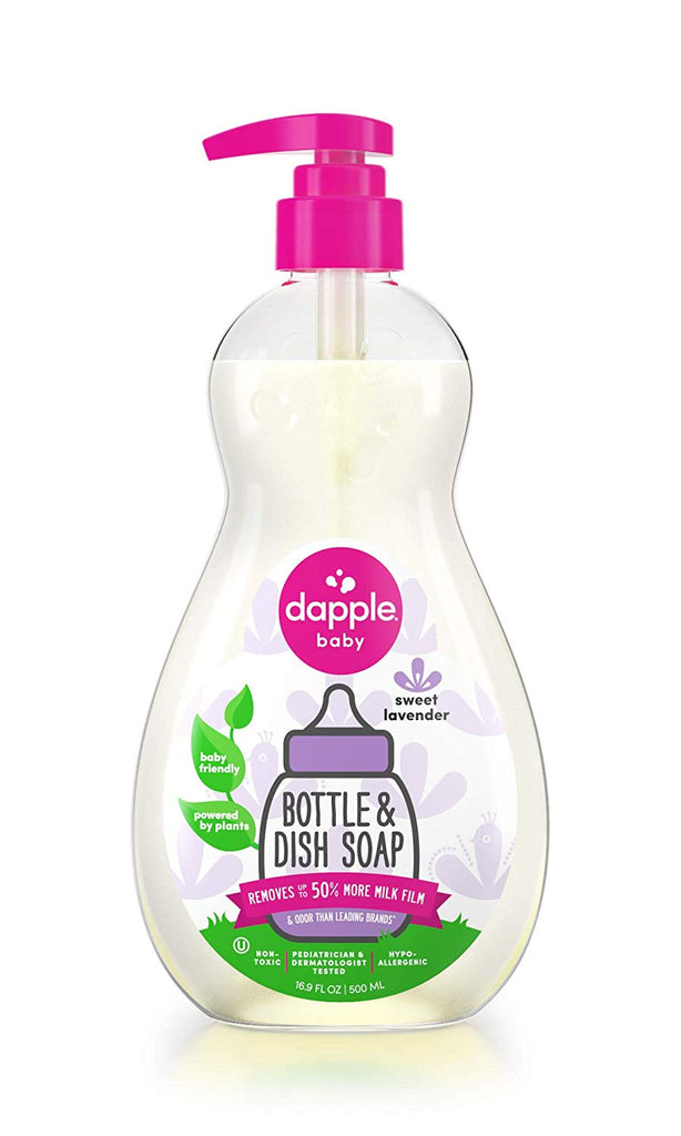 dappl bottle and dish soap lavender