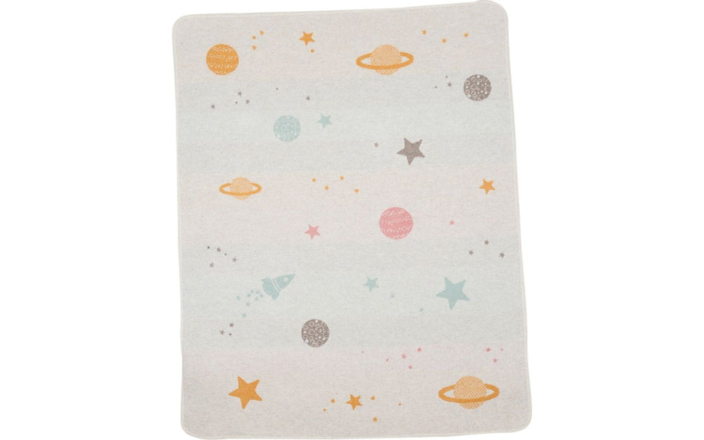 david fussenegger juwel blanket planets all over light grey