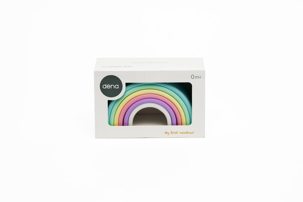 dena silicone pastel rainbow packaging