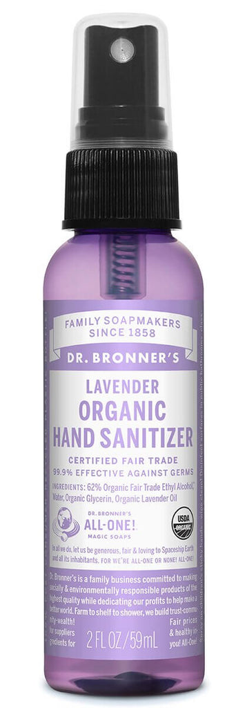 Organic Hand Sanitizer Spray - Lavender (59ml)