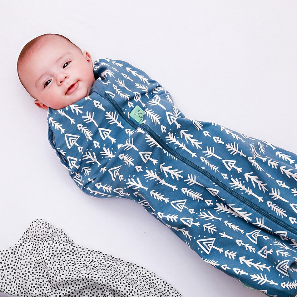 ErgoCocoon Swaddle & Sleep Bag (0.2 tog) - Midnight Arrow