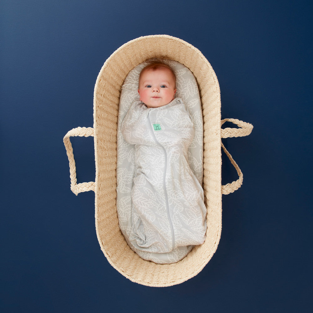 ergopouch ergococoon bamboo swaddle and sleep bag 0.2 tog rainforest leaves
