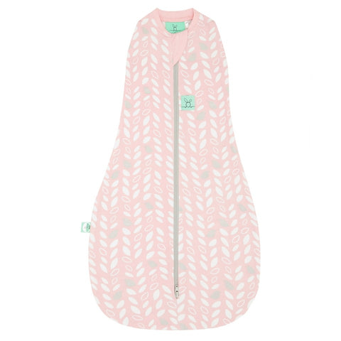 ergopouch ergococoon 1 tog swaddle pink leaves