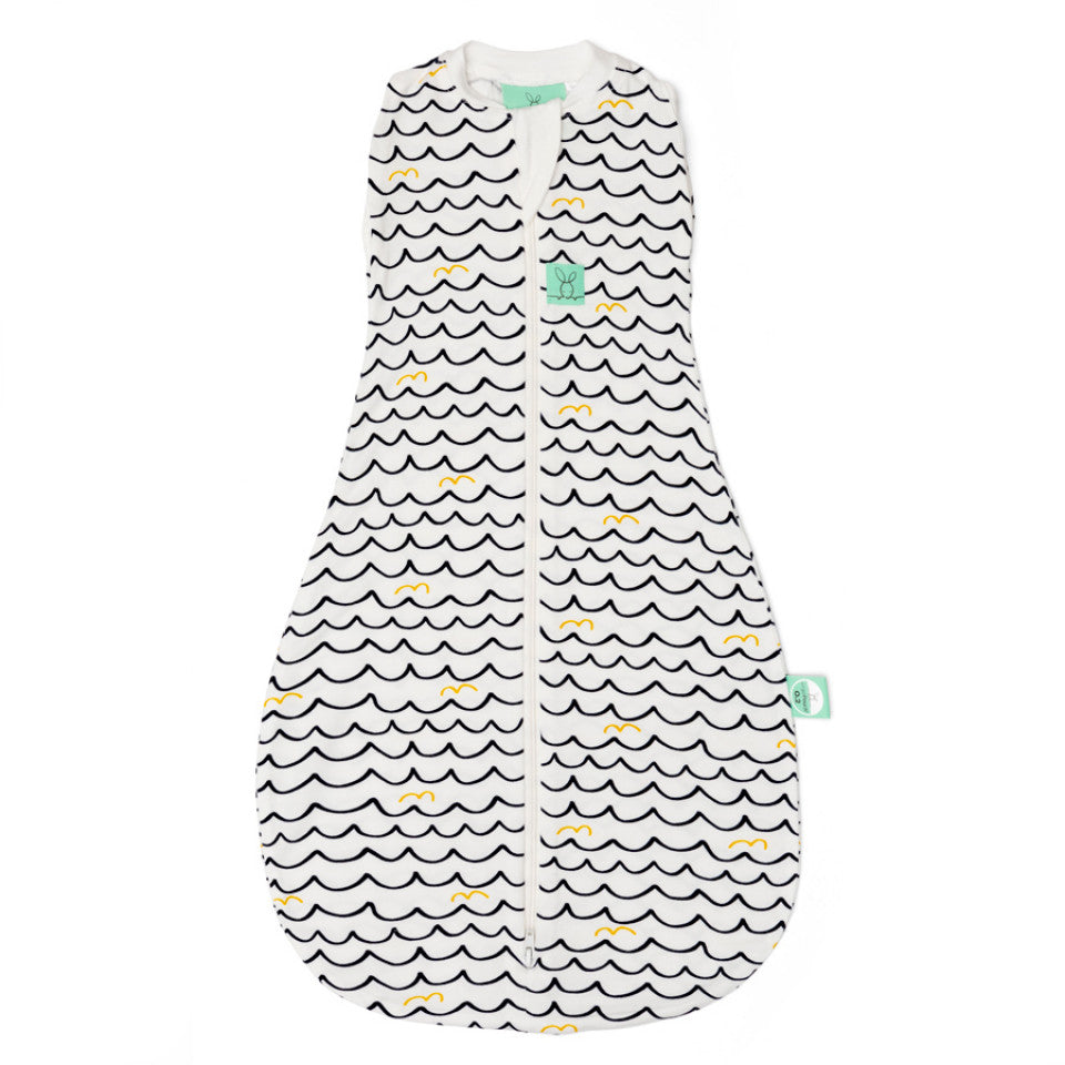 ErgoCocoon Bamboo Swaddle & Sleep Bag (0.2 tog) - Waves