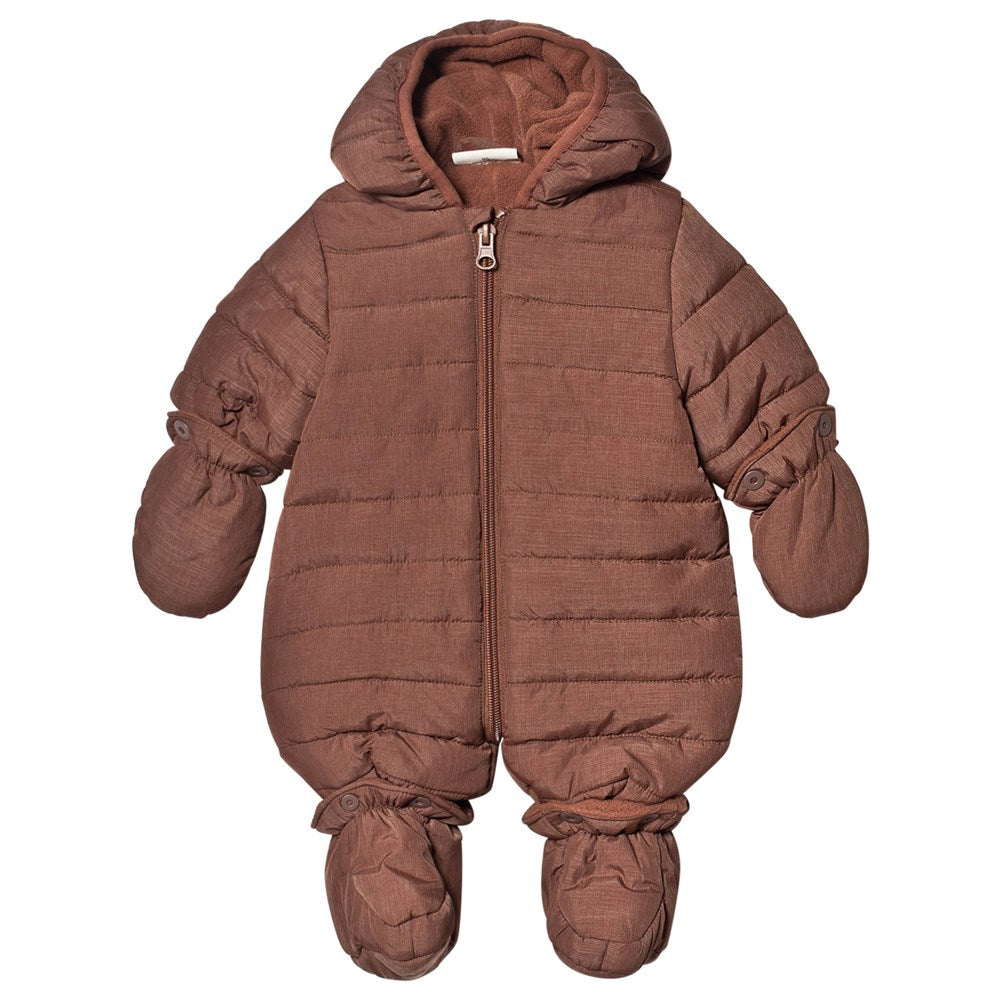 Infant Hooded Snowsuit - Brunette