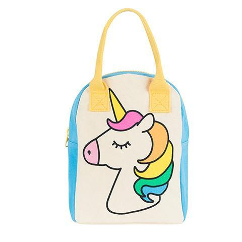 fluf zipper lunch bag unicorn