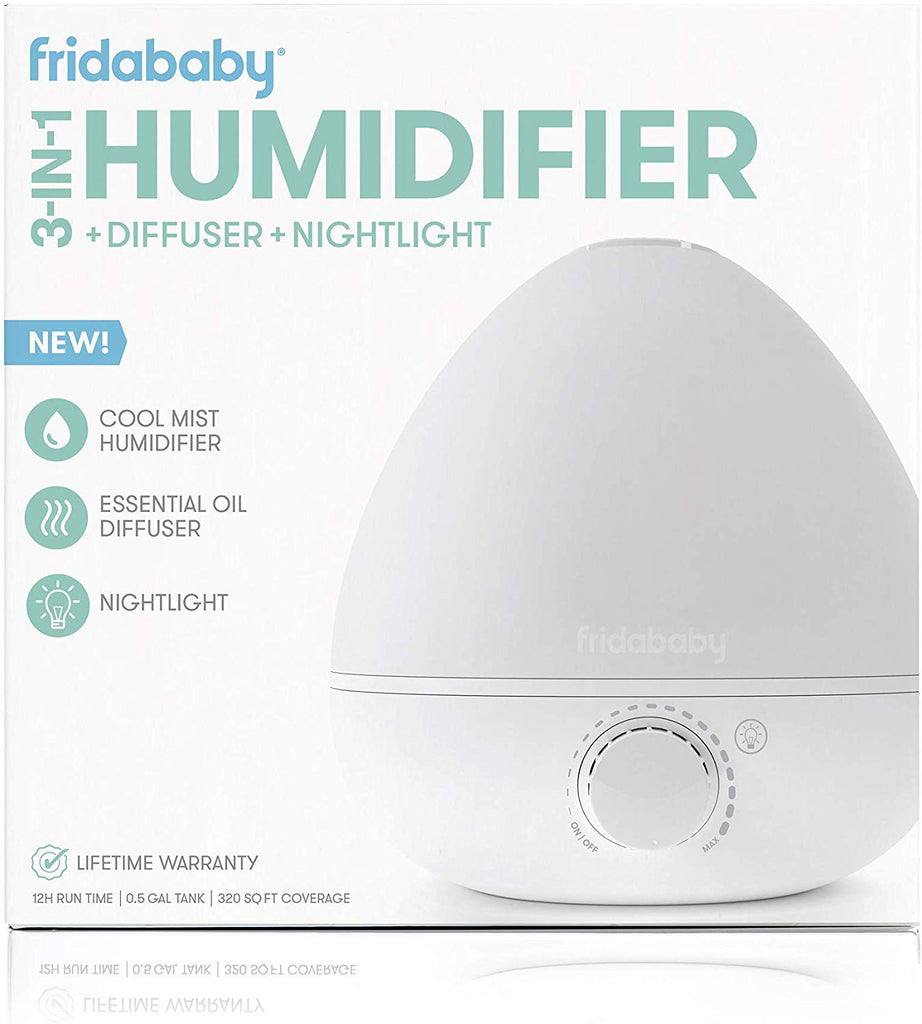 fridababy breathefrida 3-in-1 humidifer diffuser nightlight