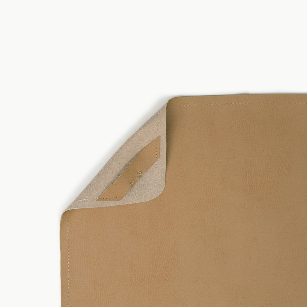 Micro Leather Change Mat - Camel