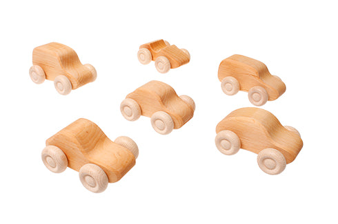 grimms toys natural wooden car