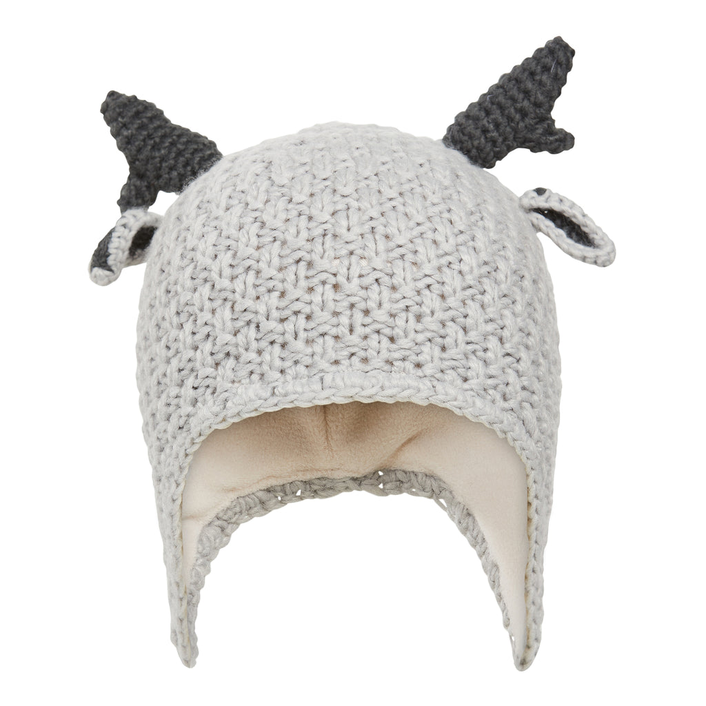 Baby Animal Knit Hat - Polar Grey