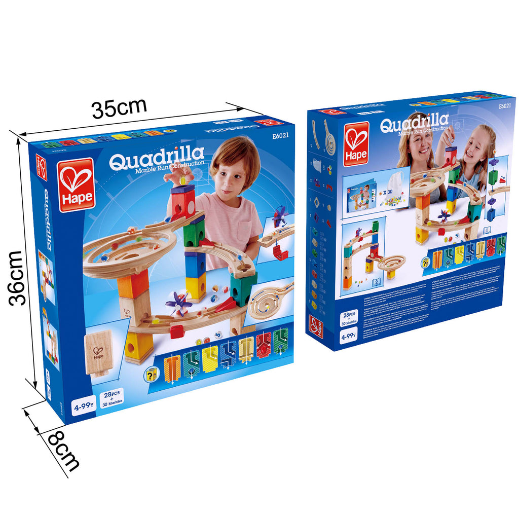 hape race to the finish quadrilla marble run