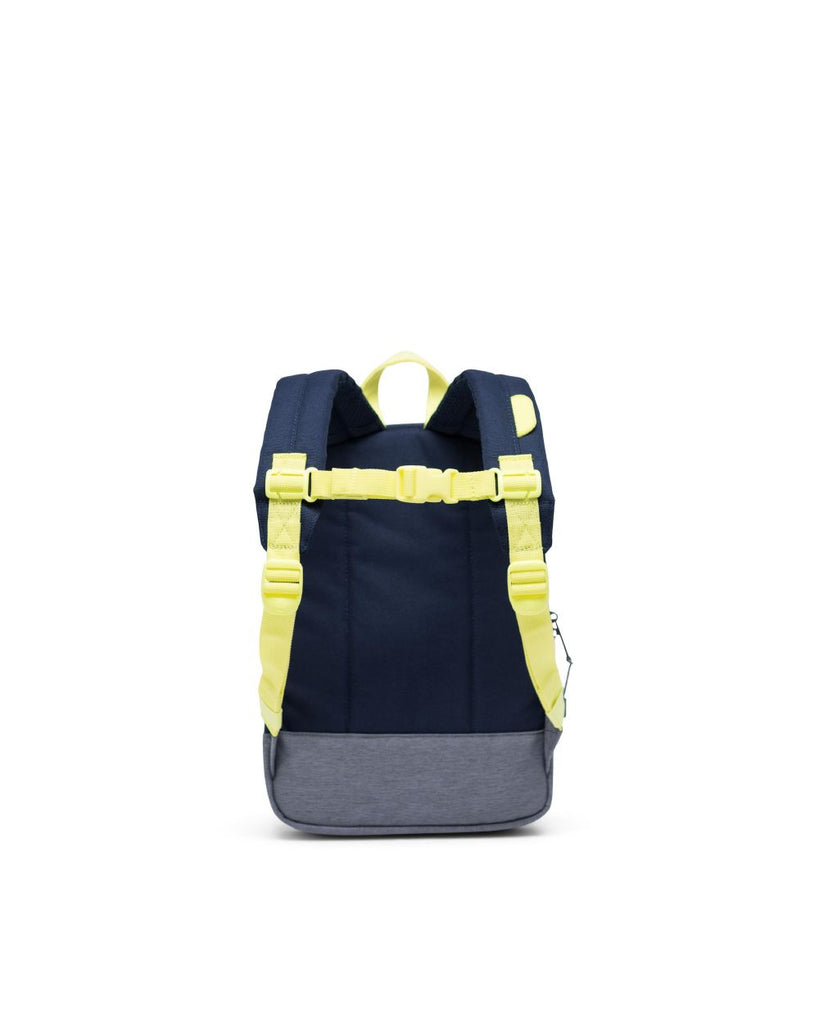 Heritage Kids Backpack - Peacoat/Highlight/Mid Grey Crosshatch