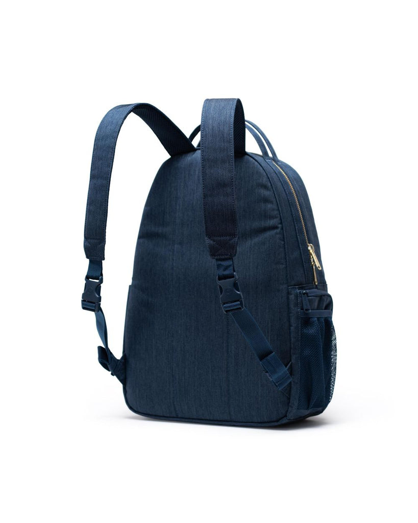 Nova Sprout Diaper Backpack - Indigo Denim Crosshatch