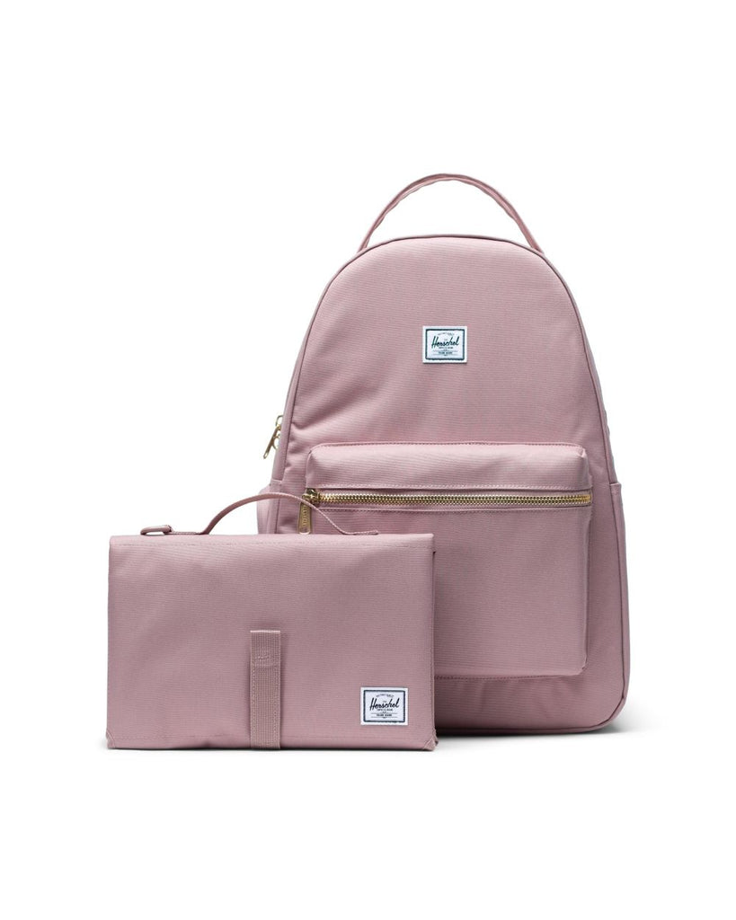 herschel supply co nova sprout diaper bag ash rose