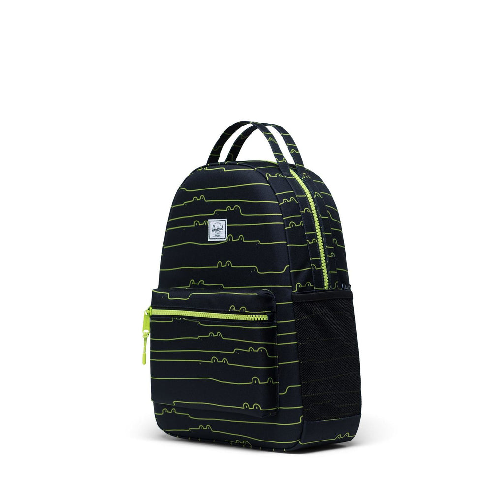 herschel supply co. nova youth backpack later gaitor side