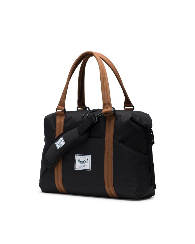 Strand Sprout Diaper Duffle - Black/Saddle Brown