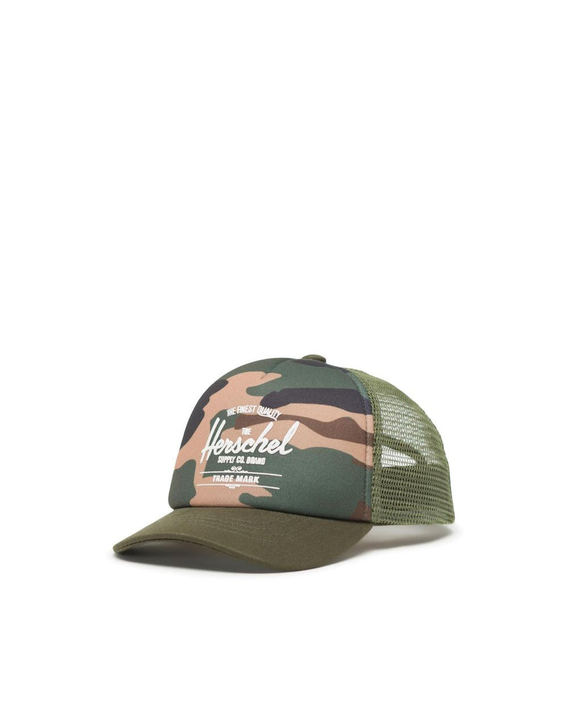 herschel supply co sprout whaler mesh cap woodland camo