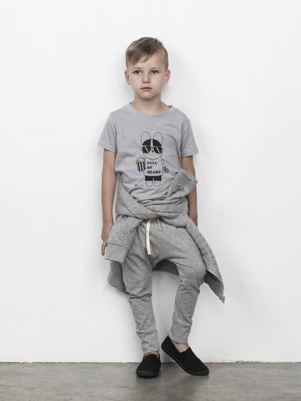 Grey Marle Drop Crotch Pant