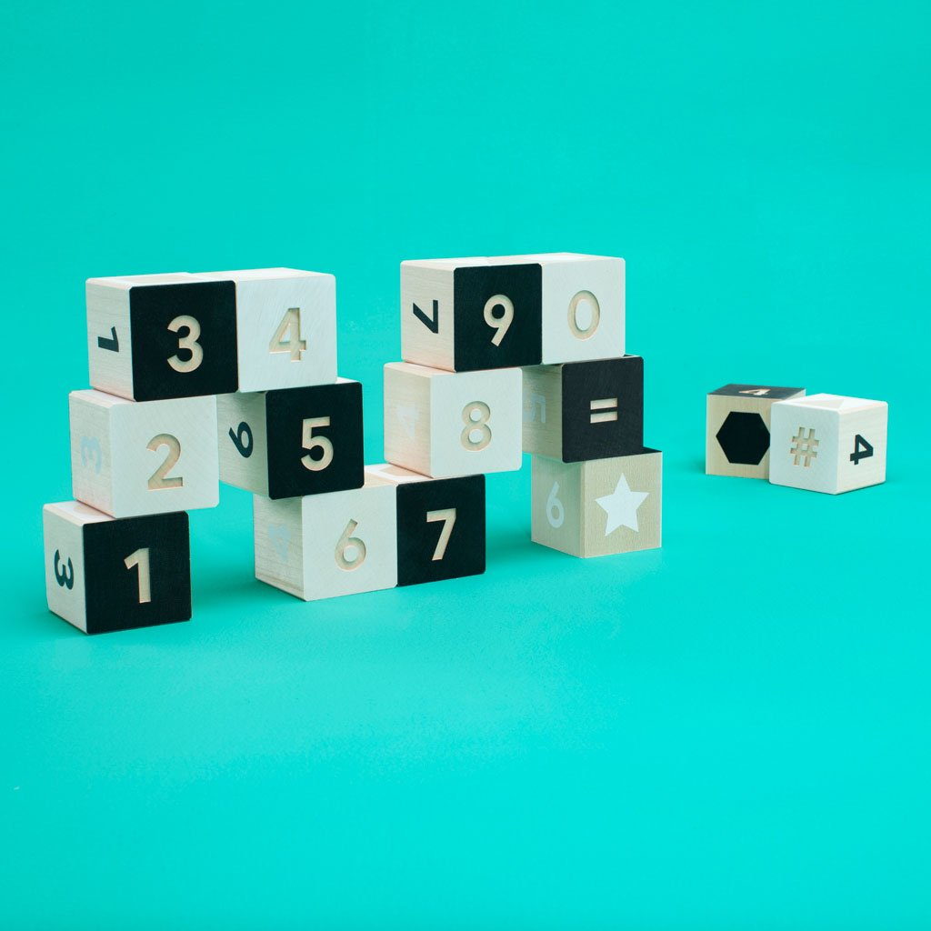 Black & White Number Blocks