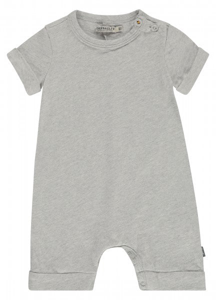 Organic Cotton Short Sleeve Romper - Grey