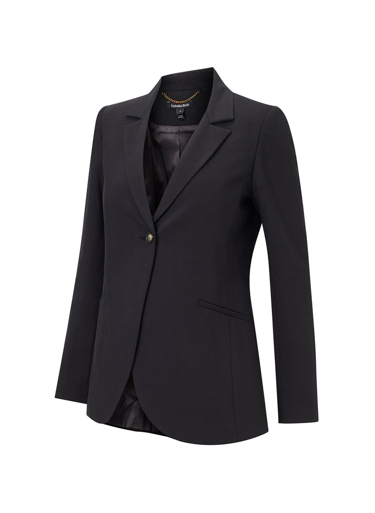 isabella oliver althea tailored maternity blazer black