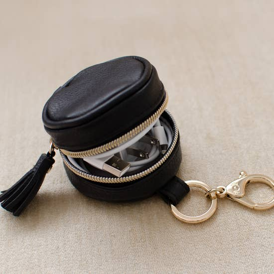 Black Diaper Bag Charm Pod Keychain