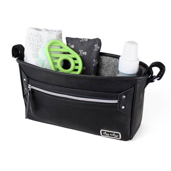 Black & Silver Travel Stroller Caddy