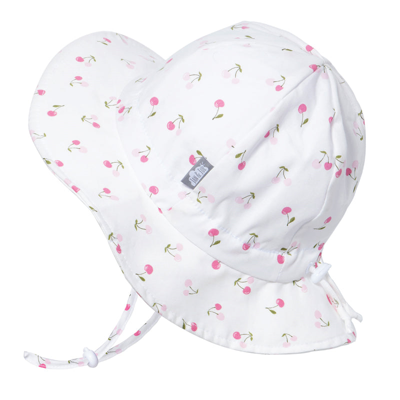 Grow With Me UPF 50+ Cotton Sun Hat - Cherries