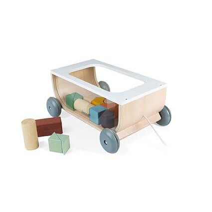 janod cart with blocks