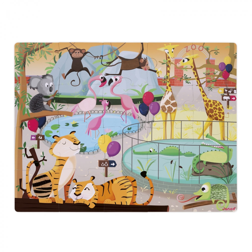 A Day at the Zoo Tactile Puzzle (20 pcs)