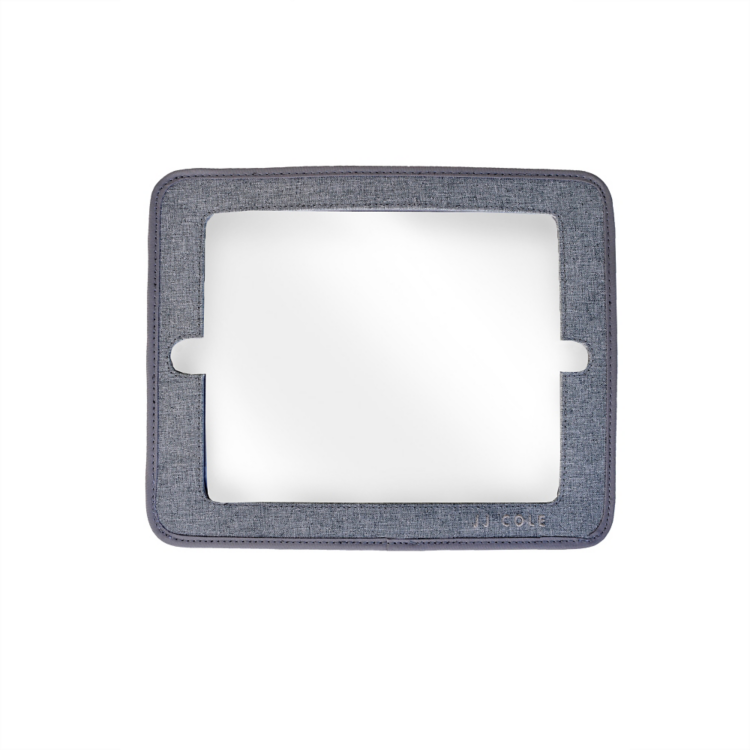jj cole 2-in-1 mirror and tablet holder grey heather