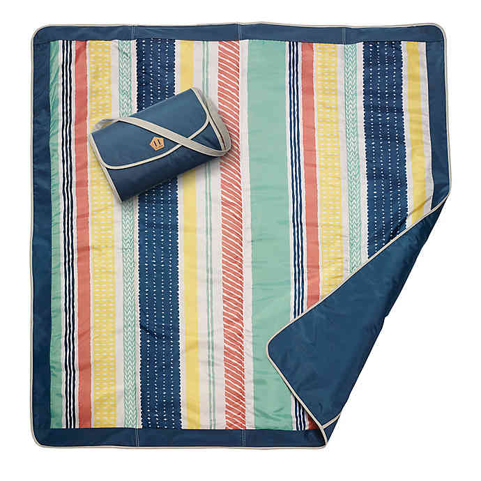 Outdoor Mat (5 x 5) - Peruvian Stripe