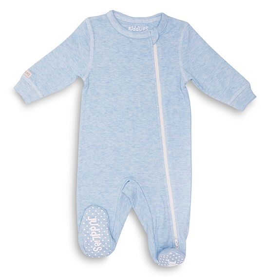 Cotton Fleck Sleeper - Blue