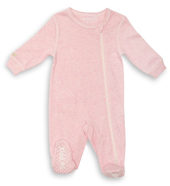 Cotton Fleck Sleeper - Pink