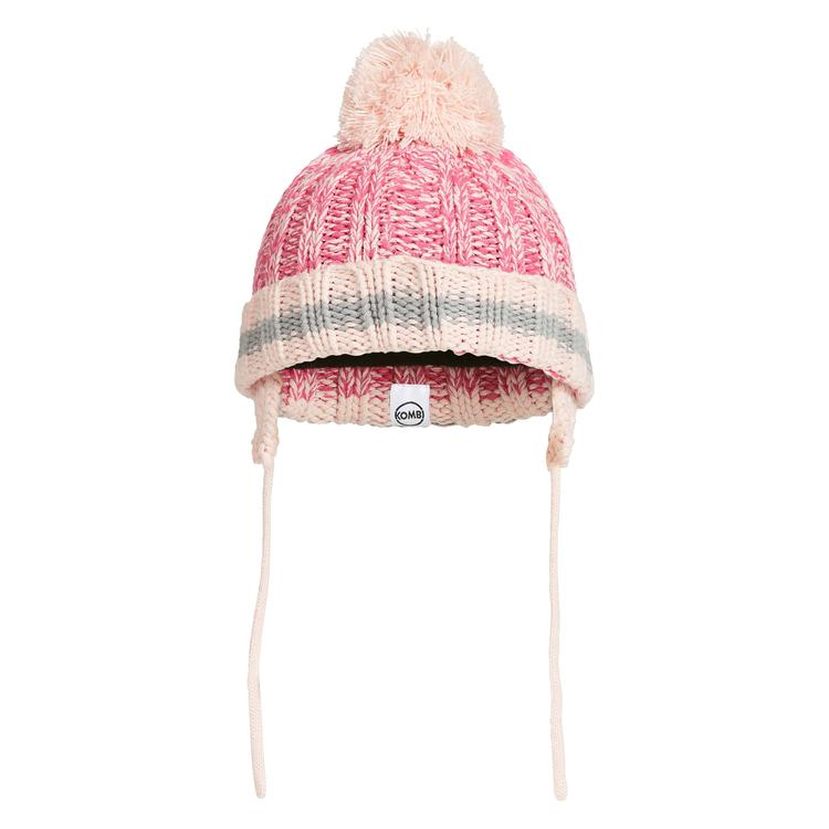 kombi the camp knit infant toque hat glass pink