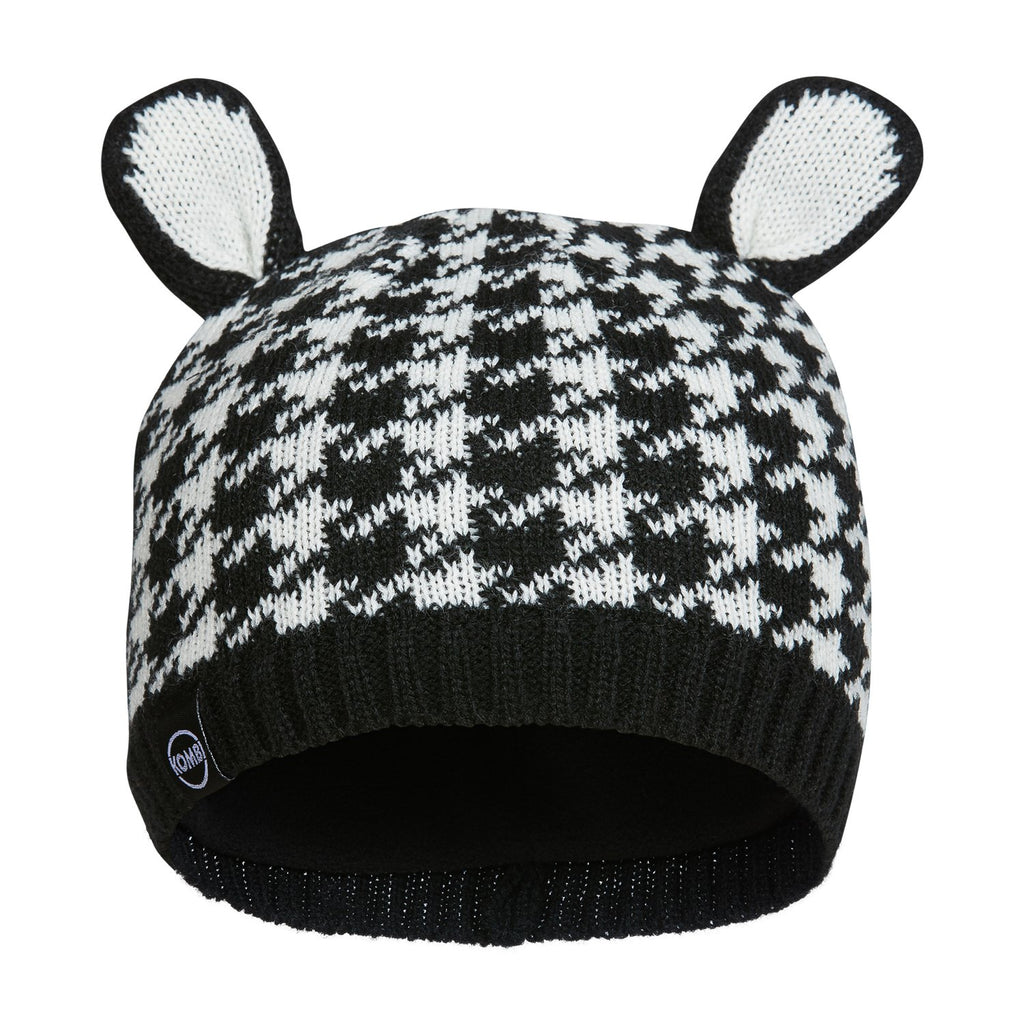 kombi the cutie knit animal ears infant toque hat black houndstooth