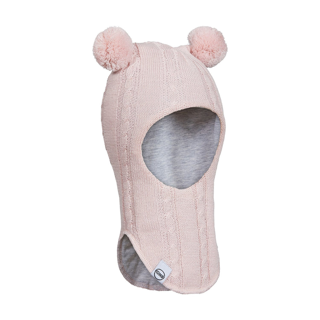 kombi full moon knit balaclava infants light pink heather
