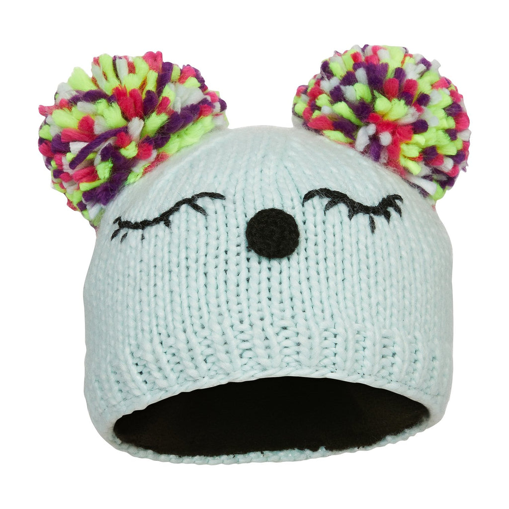 kombi the little dreamer childrens pom pom toque beanie hat glass blue