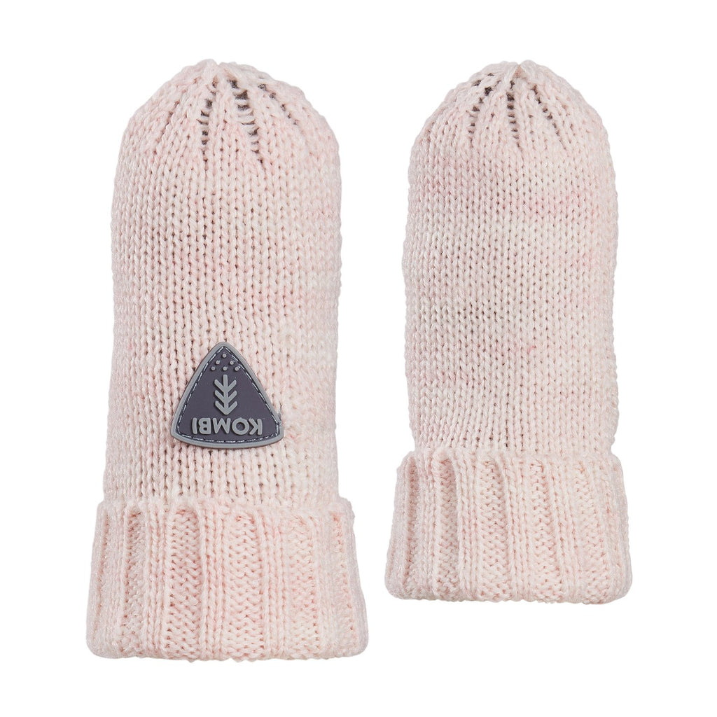 kombi shine on knit infant mittens light pink heather