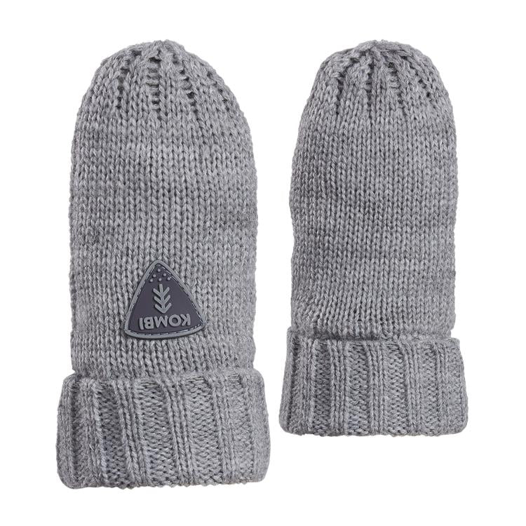 kombi shine on knit infant mittens sleet heather
