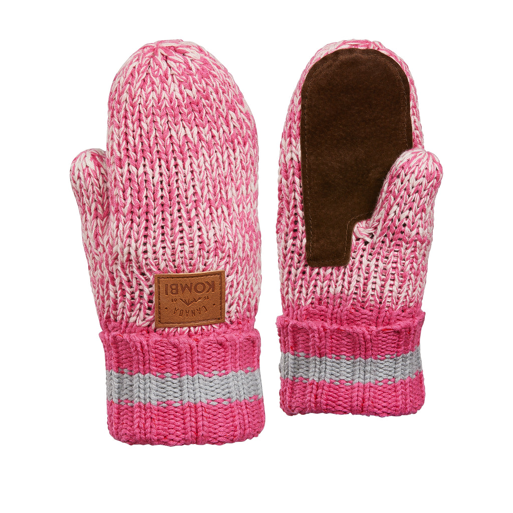 The Camp Children's Knit Mitt - Hot Pink