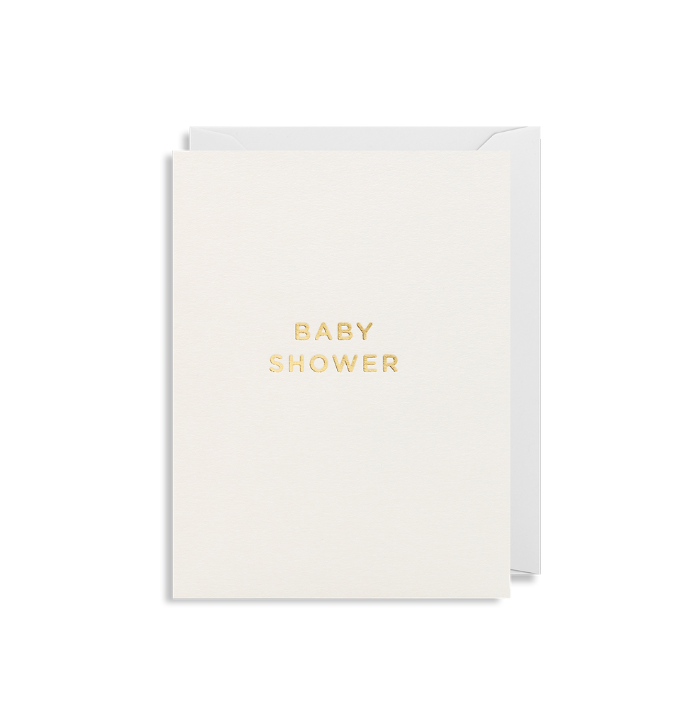 lagom design baby shower gold card