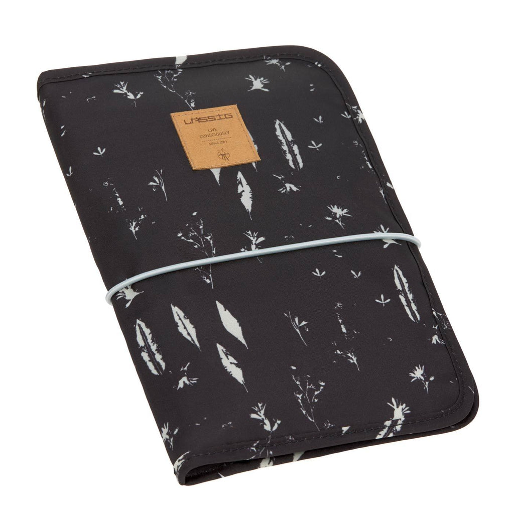 lassig casual changing pouch black feathers front