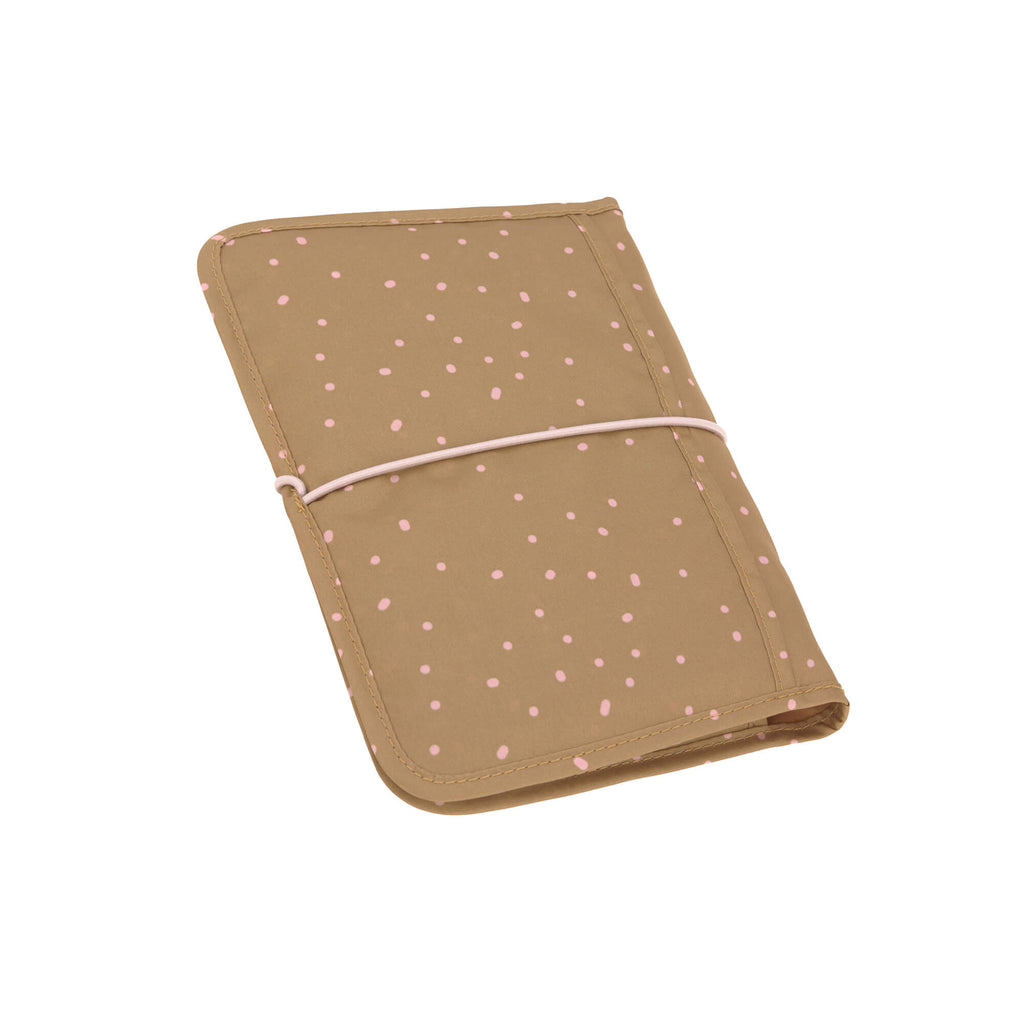 Diaper Changing Pouch - Dots Curry