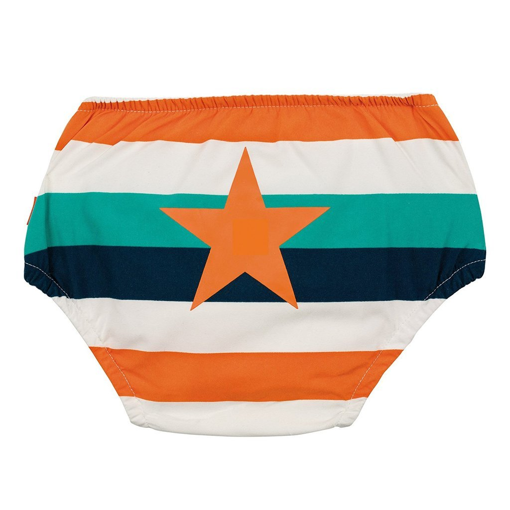lassig swim diaper multi stripe back