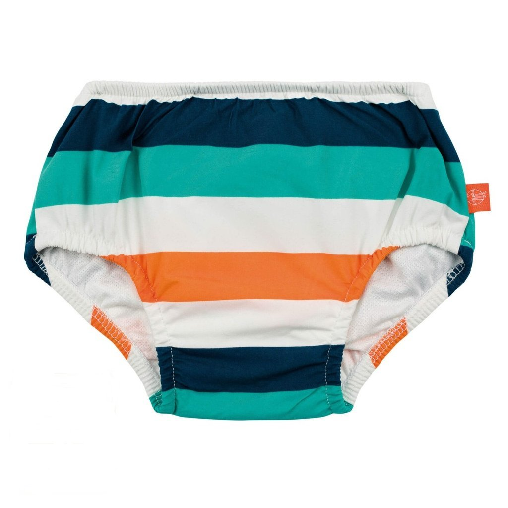 lassig swim diaper multi stripe front